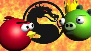 MORTAL KOMBAT starring ANGRY BIRDS ♫ 3D animated  game mashup ☺ FunVideoTV - Style ;-))