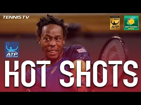 Monfils Threads Lob Hot Shot