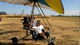 getlinkyoutube.com-primo volo in deltaplano a motore di Marco