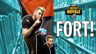 FORTNITE FORT IN THE LIBRARY!