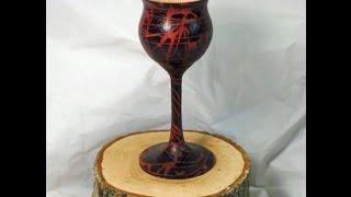 getlinkyoutube.com-Wood Turning - How To Colour a Goblet using Hot Melt Glue