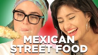 People Try Mexican Street Food