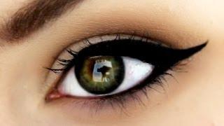 getlinkyoutube.com-PERFECT Winged Eyeliner using Gel Eyeliner | RawBeautyKristi
