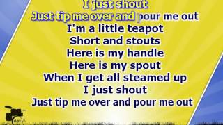 Karaoke for kids - I'm a Little Teapot - with backing melody