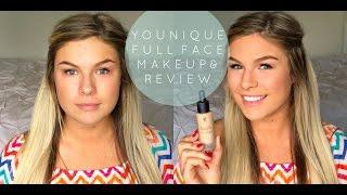 getlinkyoutube.com-HONEST Younique Full Face Makeup & Review