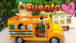 getlinkyoutube.com-Historias con juguetes de Calico Critters en la escuela, de campamento, fiesta de cumpleaños y más
