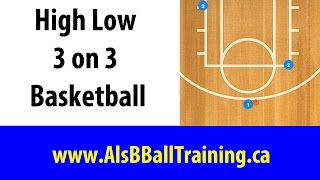 High Low 3 on 3 Basketball Plays