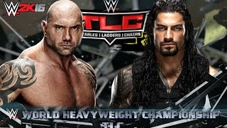 getlinkyoutube.com-Roman Reigns vs Batista | WWE TLC 2015 Dream Match (WWE 2K16 Gameplay)( Ps4)