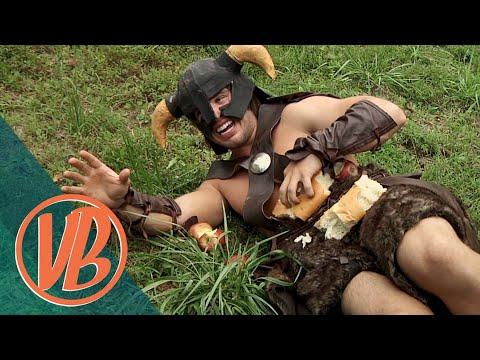 Skyrim IRL: Dovahkiin vs. the Bandit Marauder