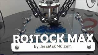 getlinkyoutube.com-Rostock MAX Delta Arm 3D printer