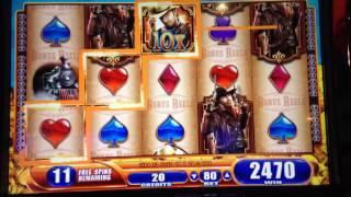 getlinkyoutube.com-*Laredo~WMS Slot~$5 FREEPLAY Turned into NEARLY $200!BONUS WIN~@.80¢ Cent bet~Gamer Couple Alliance~