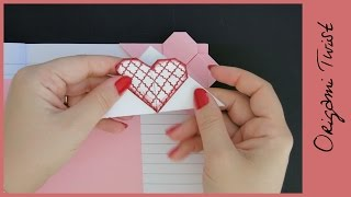 getlinkyoutube.com-DIY CORNER HEART BOOKMARK