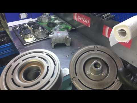 Nissan Teana. Восстановление муфты компрессора кондиционера.