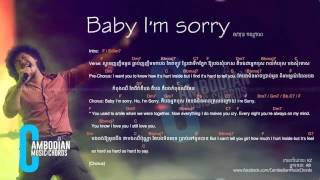 getlinkyoutube.com-សារុន កល្យាណ (Jimmy Kiss) - Baby I'm Sorry (Lyric And Chords By Cambodian Music Chords)
