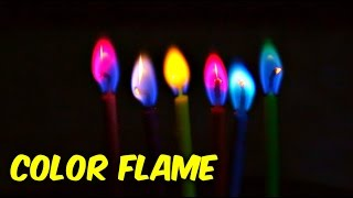 Rainbow Colored Flame
