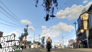 getlinkyoutube.com-Defeat The Attack Helicopter - GTA 5 PC MOD (Fun MiniGame - Helo Insurgent)