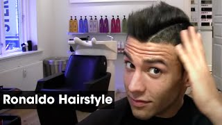 getlinkyoutube.com-Cristiano Ronaldo Inspired Haircut Tutorial | How To Style & Cut A Football Soccer Hairstyle