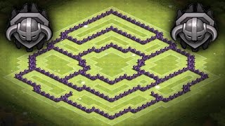 Clash of Clans | Best Town Hall 8 Trophy Base, Hybrid Base, Centered CC, Master league | TH8 TH 8