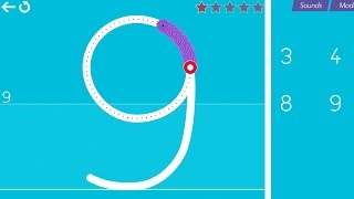 getlinkyoutube.com-Cursive Writing Wizard – Trace Letters & Words - All Numbers 5 Stars Mode