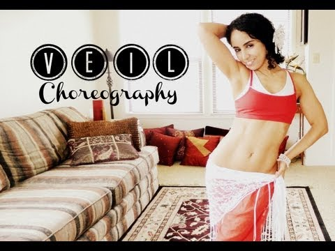 Egyptian beginner bellydance veil choreography - Step by step combinations