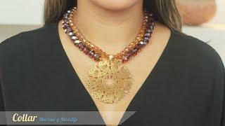 getlinkyoutube.com-Cómo hacer un Collar murano y maxidije Kit: 27193