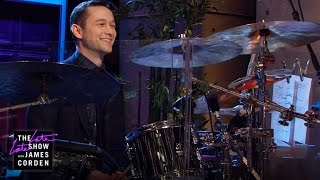 getlinkyoutube.com-Joseph Gordon-Levitt Takes Over the Drums