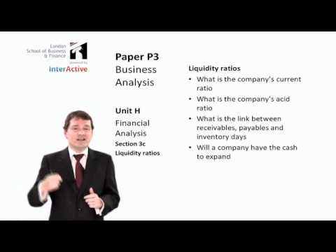 ACCA P3: Introduction to Ratio Analysis
