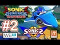 Sonic &amp; All Stars Racing Wii U - &quot;Dual Screen Race with Sonic's Channel&quot; Online Matches / Gameplay