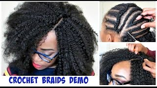 getlinkyoutube.com-WATCH ME DO CROCHET BRAIDS! Invisible Part Method w/ Marley Hair