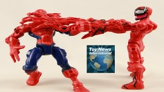 getlinkyoutube.com-Marvel Super Hero Mashers Hobgoblin, Agent Venom & Carnage Figures Review