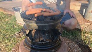 getlinkyoutube.com-DIY Car Rim BBQ