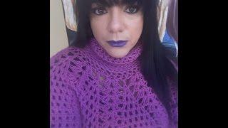 getlinkyoutube.com-Crochet abrigo o sùeter para principiantes
