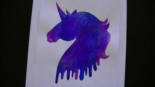 getlinkyoutube.com-Como dibujar/pintar un unicornio galaxia - Dibujando