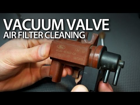 How to clean vacuum valve air filter in 1.6 & 2.0D TDCi, HDi engines (Volvo Ford ... Peugeot)