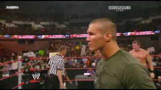 getlinkyoutube.com-Triple H returns on Raw and destroy Randy Orton part1