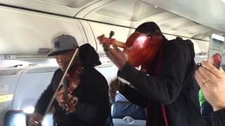 getlinkyoutube.com-Surprise In-Flight Performance on US Airways by Black Violin