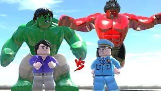 getlinkyoutube.com-HULK (TRANSFORMATION) VS RED HULK - LEGO FIGHT (LEGO MARVEL Super Heroes)
