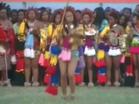 HRH Inkhosatana Princess Sikhanyiso of Swaziland Giya at the Umhlanga Reed Dance 2010