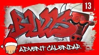 getlinkyoutube.com-Graffiti Tutorial for beginners - How to draw a chicago bulls graffiti (13th Door)