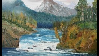 """getlinkyoutube.com-March 16, 2013 Oil Painting - """"Grand Tetons View"""" Full Version For Class"""