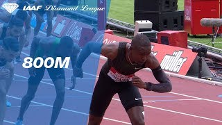 Emmanuel Korir 1.42.05 Wins Men's 800m - IAAF Diamond League London 2018 width=
