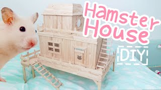 getlinkyoutube.com-Popsicle Stick House ☆HAMSTER DIY☆