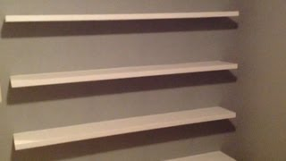 getlinkyoutube.com-How to Build Sleek Free-Floating Wall Shelves!