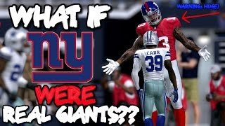 getlinkyoutube.com-What if the NEW YORK GIANTS WERE ALL GIANTS IN REAL LIFE?? Madden 17