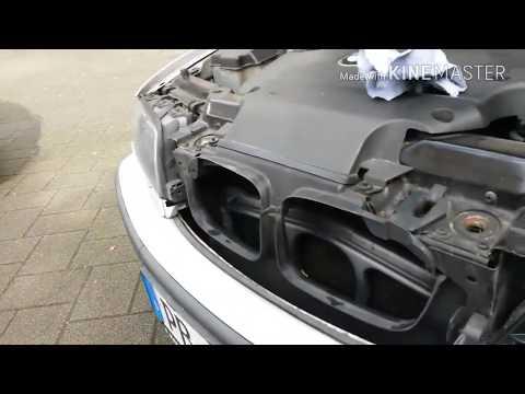 Как снять стекло с фары БМВ 320 и поворотник, простой и быстрый способ снятия