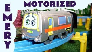 getlinkyoutube.com-Motorized Chuggington Tomy Emery on Track Kids Thomas The Tank Engine Toy Train Set