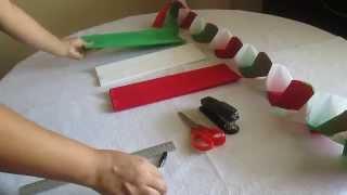 getlinkyoutube.com-Como hacer cadenas con papel crepe