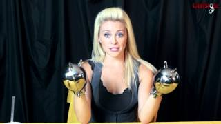 getlinkyoutube.com-Ashley in KUB-140 Locking Stainless Steel Hand Mitt Handcuffs