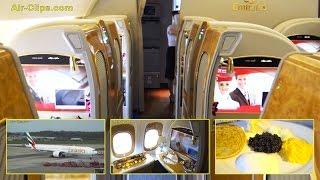 getlinkyoutube.com-Emirates Boeing 777-300ER First Class FULL FLIGHT Hamburg-Dubai + Chauffeur & Lounge. [AirClips]