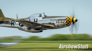 P-51 Mustang Low Flybys! Gathering of Warbirds 2017